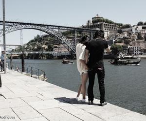 city, romance, and couple image