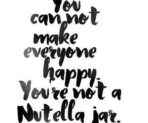 quote, happy, and nutella image