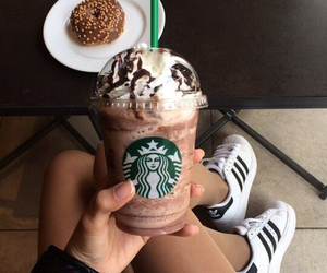 adidas, starbucks, and vintage image