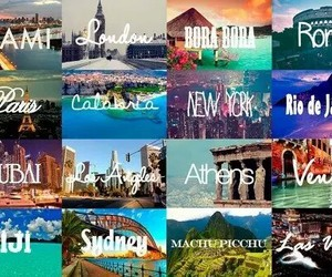 Athens, bora bora, and los angeles image