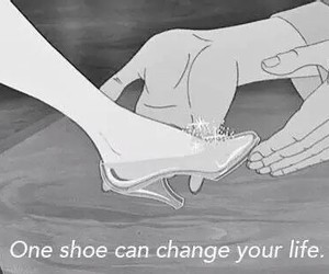 black and white, cinderella, and disney image