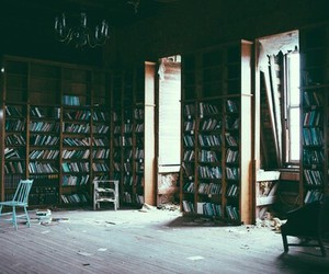 book, hipster, and library image