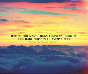 quotes, sunset, and life image
