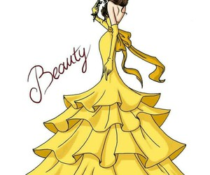 anime, disney, and gown image