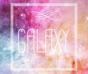 galaxy, girl, and infinite image