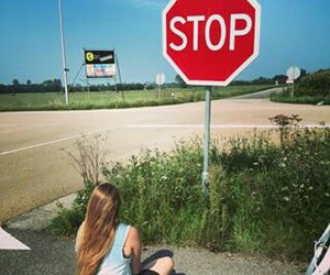 alone, stop, and fun image
