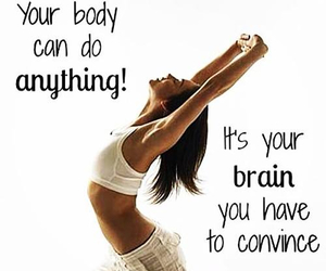 body, brain, and quote image