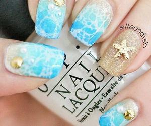 nails, beach, and summer image
