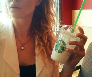 blond, frappucino, and classy image