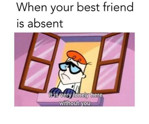 school, absent, and bff image