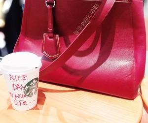 bag, beauty, and coffee image