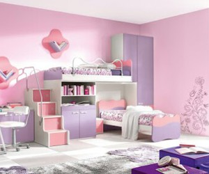 pink, bedroom, and purple image