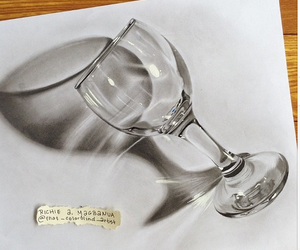 drawing, art, and glass image
