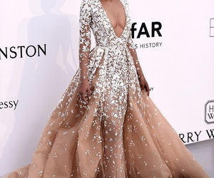 dress, fashion, and Chanel Iman image