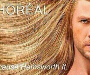 thor, funny, and loreal image