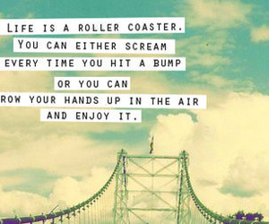 life, quote, and Roller Coaster image