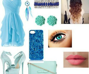 bag, blue, and heels image