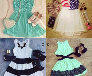 dress, girly, and style image