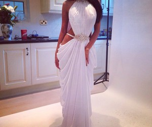 dress, luxury, and white image