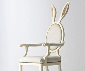 chair, bunny, and rabbit image