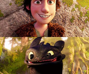 hiccup, dragon, and smile image