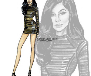 art, drawing, and kylie jenner image