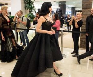 black, Dita von Teese, and dress image