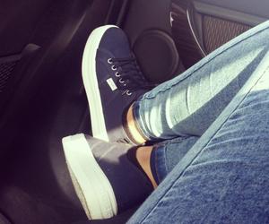 jeans, shoes, and !!! image