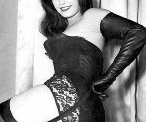 Bettie Page, vintage, and fashion image