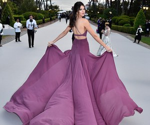 dress, purple, and kendall jenner image