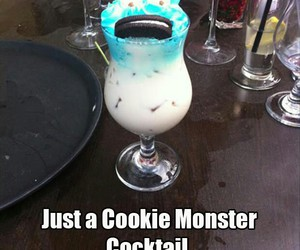 cocktail, cookie, and cookie monster image