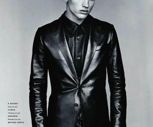 black and white, lips, and Simon Nessman image