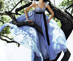 dress, tree, and fashion image