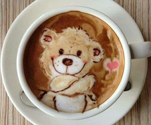 coffee, bear, and drink image