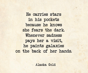 stars, quote, and galaxies image