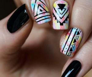black, nail art, and color image