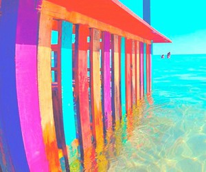 vibrant, colorful, and dock image