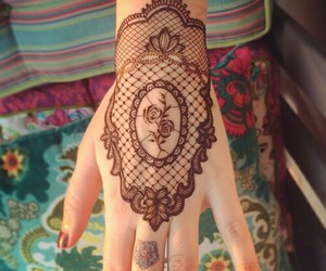 henna, design, and rose image