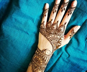 hand, henna, and stain image