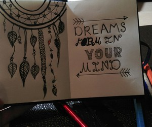 colour, drawing, and dreamcatcher image