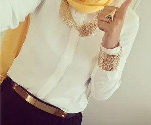 hijab and gold image