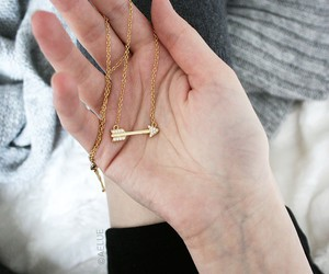 arrow, girl, and gold image