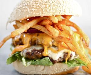 burger and cheeseburger image