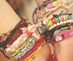 cool, colors, and bracelets image
