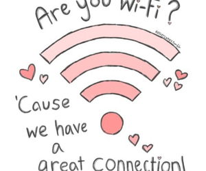 love, wifi, and connection image