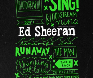 ed sheeran, x, and sing image