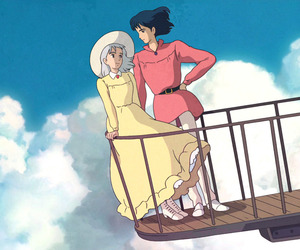 howl's moving castle, anime, and studio ghibli image