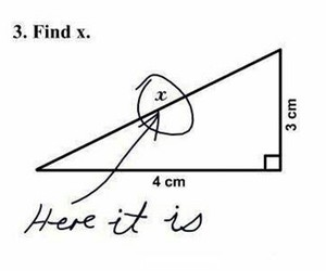 funny, math, and x image