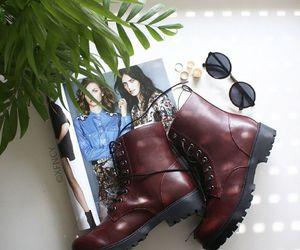 fashion, sunglasses, and boots image