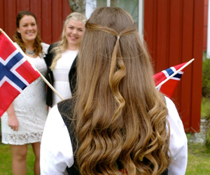flags, hair, and norway image